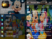 BBM Mod Mickey Mouse APK Update 2017