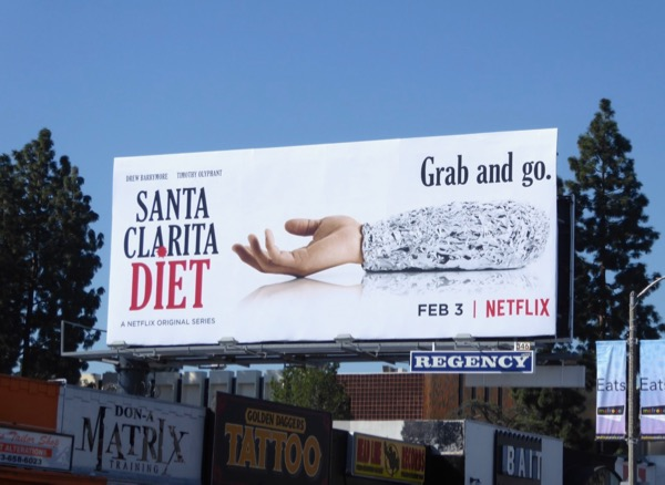 Santa Clarita Diet Grab go billboard