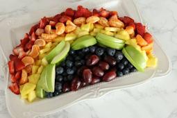 Easy Rainbow Fruit Platter