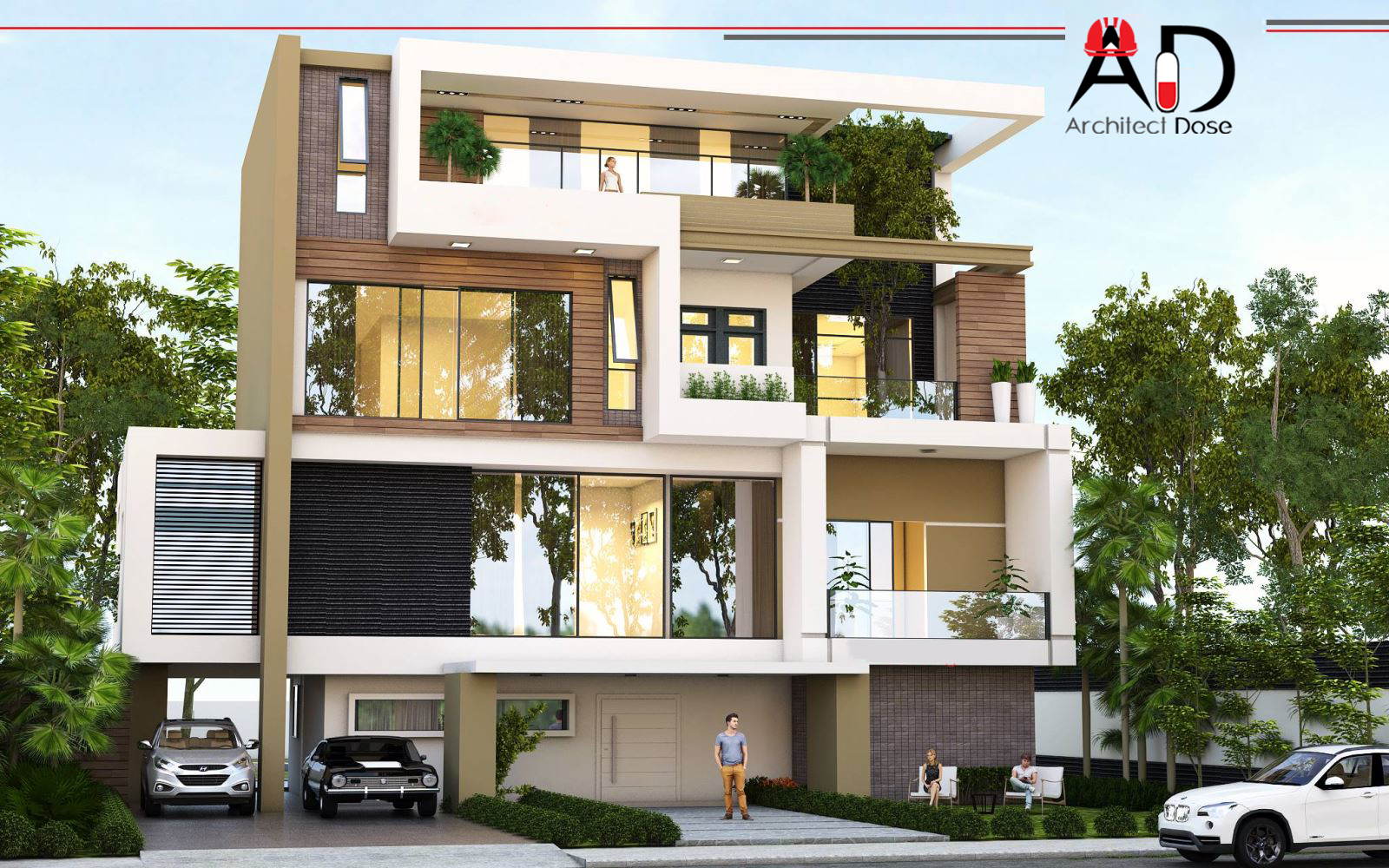 Architect dose architecture sketchup tutorials models for Contemporary model house