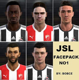 JSL facepack NO1 Pes 2013 by Bobce
