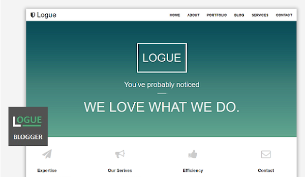 Logue onepage Responsive Blogger Template