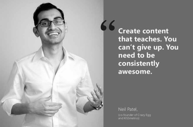 Neil Patel quotes marketing expertise advice quote social media blogging startup entrepreneur seo