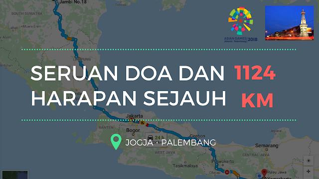 Seruan doa dan harapan sejauh 1124 km