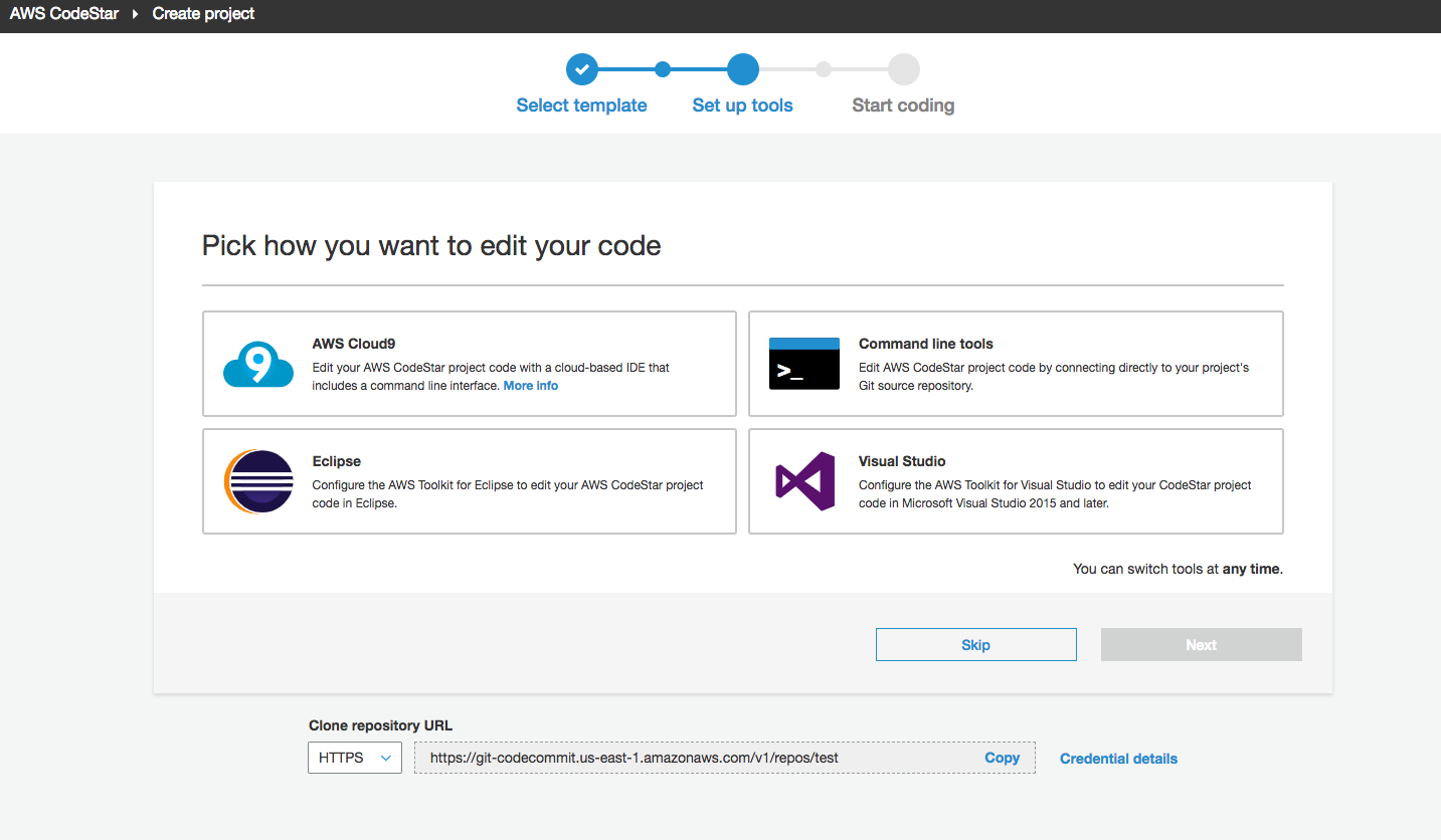 Check out #aws #CodeStar with #Cloud9 using #ec2 t2.micro