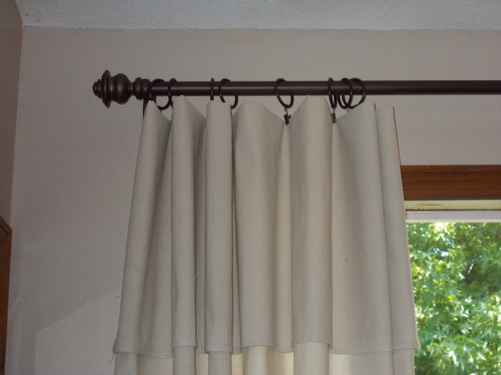 Simple, But Fabulous: Drop Cloth -No Sew Curtains