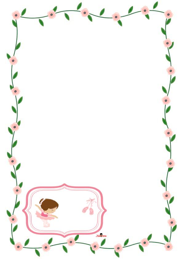 caratulas para cuadernos para niñas de primaria de ballet