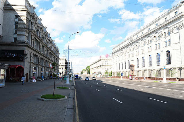 Minsk, beloruska prestolnica, prospekt nezavisimosti