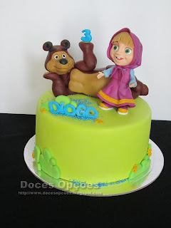 A Masha e o Urso no 3º aniversário do Diogo