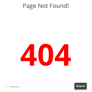 How to display custom page not found error 404 error in blogger blog