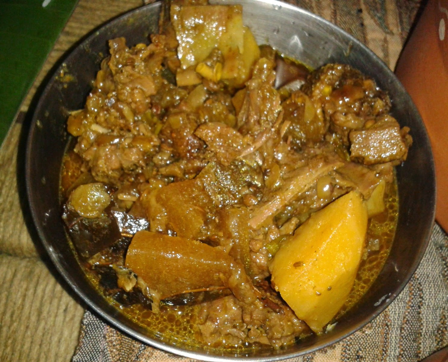 Hanhor Mangxo or Assamese Duck Curry