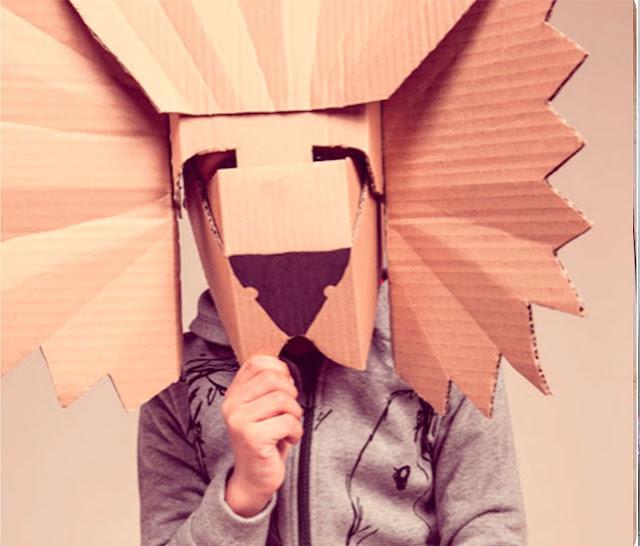 manualidades máscara de león