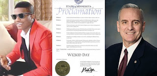 US Governor Declares October 6 of Every Year As 'WIZKID Day'