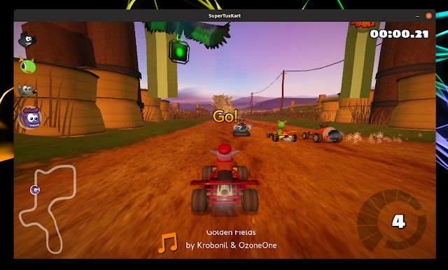 SuperTuxKart gameplay
