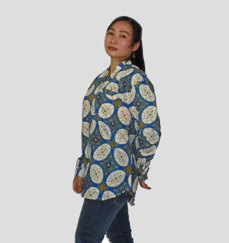 Kemeja Batik Mega Mendung Wanita: Model Baju Batik Wanita Modern Terbaru 2017