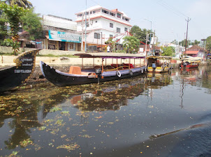 The view of the opposite bank of Alappuzha Boat terminus.