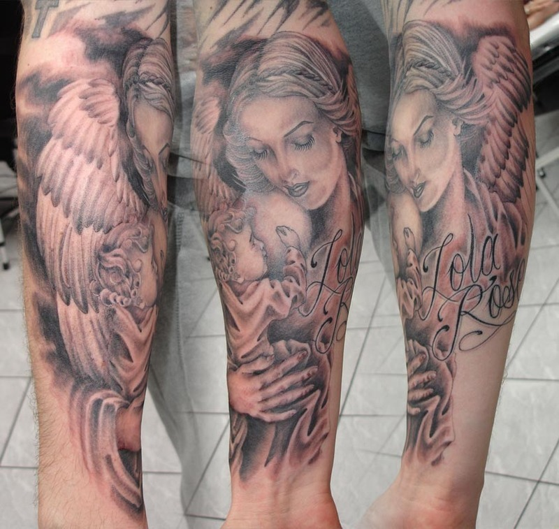 Design Tattoo: Guardian Angel Tattoo Designs