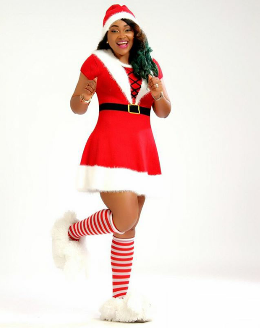 Photo: Mercy Aigbe As Santa Claus