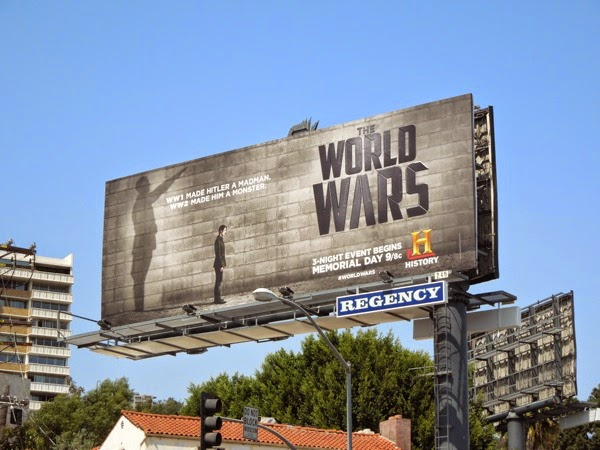 Hitler The World Wars billboard Sunset Strip