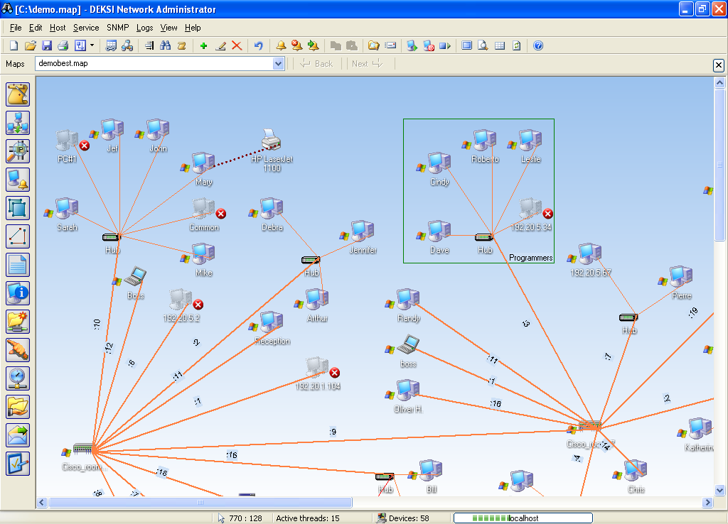 Network monitoring and penetration tools