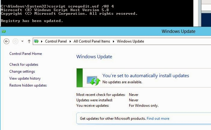 Windows & PowerShell : Managing Windows Updates from Command line
