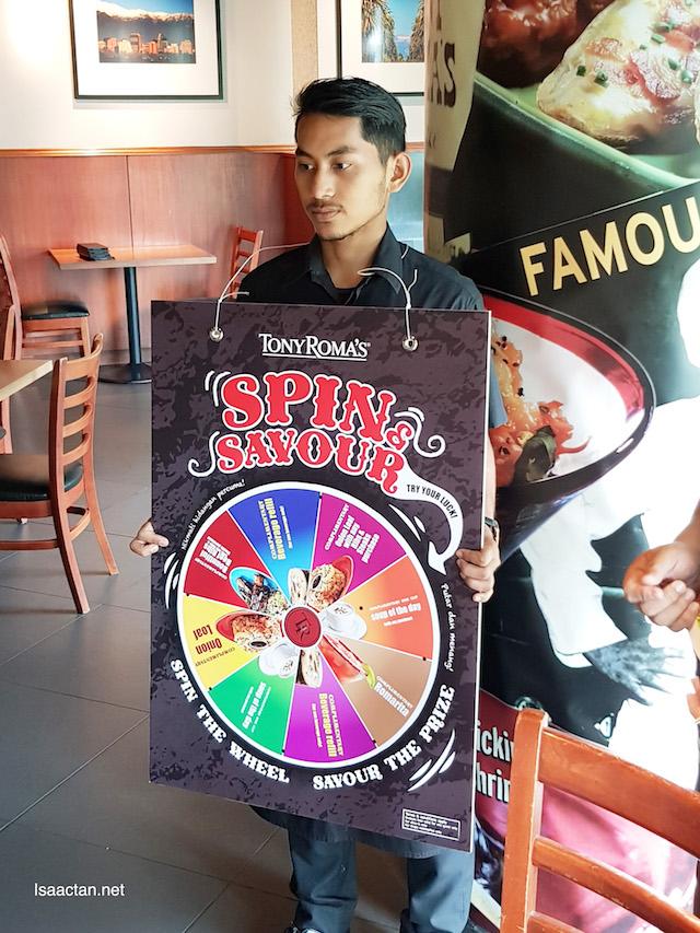 Spin and Savour Menu @ Tony Roma's Malaysia