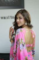 Angela Krislinzki Rogue Movie Fame Telugu Actress in Saree Backless Choli 085.JPG