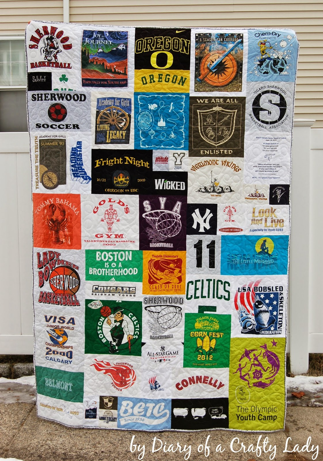 diary of a crafty lady: making your own t-shirt quilt
