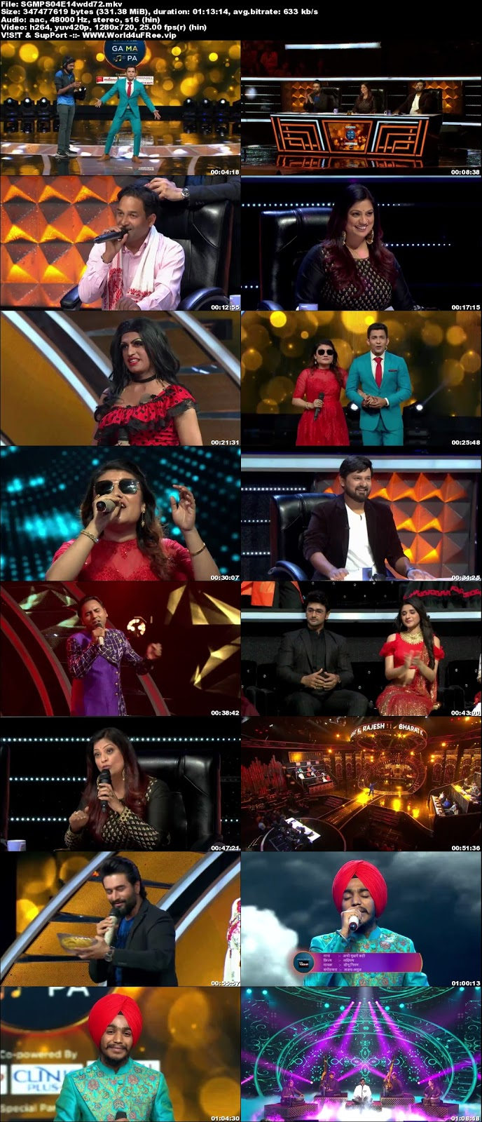 Sa Re Ga Ma Pa 2018 S04 Episode 14 720p WEBRip 300Mb x264 world4ufree.fun tv show Sa Re Ga Ma Pa 2018 S04 2018 hindi Zee tv show compressed small size free download or watch online at world4ufree.fun