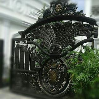 Pintu, Gerbang, Klasik, Besi, Tempa, Mewah
