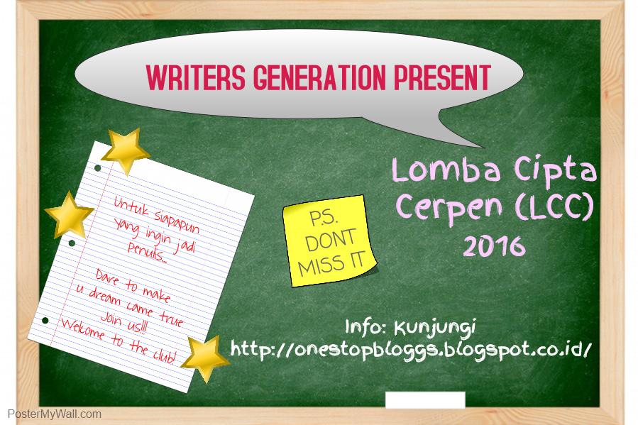 Lomba Menulis Cerpen - LCC Writers Generation | Info Lomba