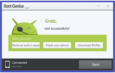 Cara root android pada PC menggunakan Root Genius