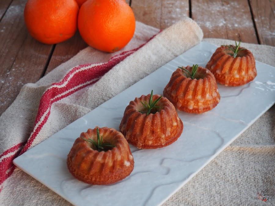 Mini bundts de naranja y romero con aceite de oliva