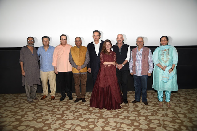 Hitendra Gosh, Ketan Desai, Ramesh Taurani, Pahlaj Nihlani, Ramesh Sippy, Saapna Mukerji, Rakesh Roshan, Vivek Kumar, CEO Aamby Valley City and Hotel Sahara Star, Ashu Sood, CFO AVC & HSS @Cinetheque