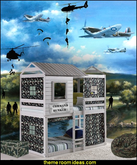 army solder bunker themed bed  Army Theme bedrooms - Military bedrooms camouflage decorating  - Army Room Decor - Marines decor boys army rooms - Airforce Rooms - camo themed rooms - Uncle Sam Military home decor - military aircraft bedroom decorating ideas - boys army bedroom ideas - Military Soldier - Navy themed decorating