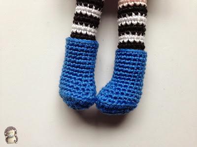 Botas crochet para muñeca