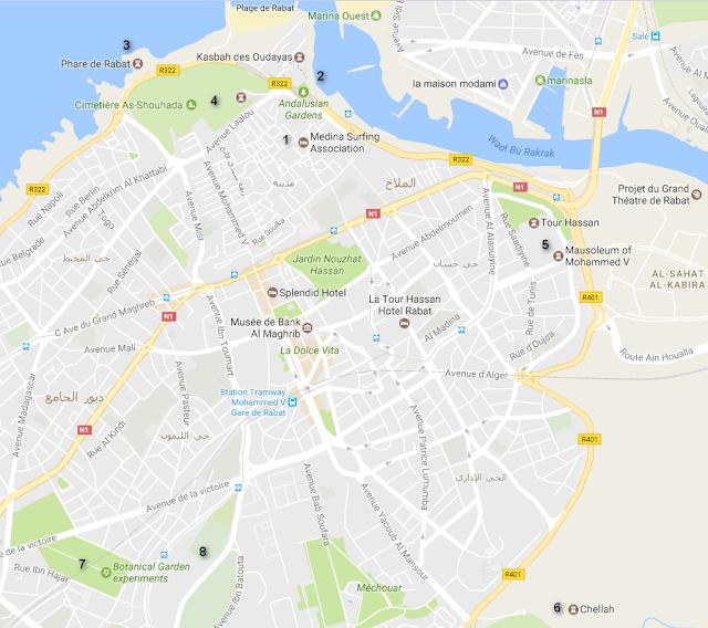 Rabat mapa
