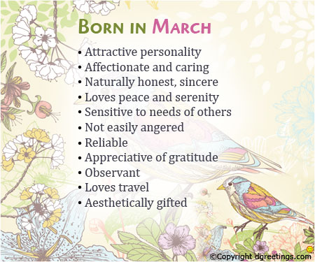 juliet jikes fascinating traits of born in march