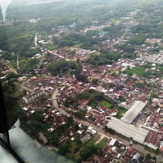 TNI AU Pantau Work From Home di Atas Kota Malang