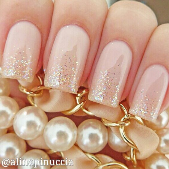 Awesome Wedding Nails In Natural Colors