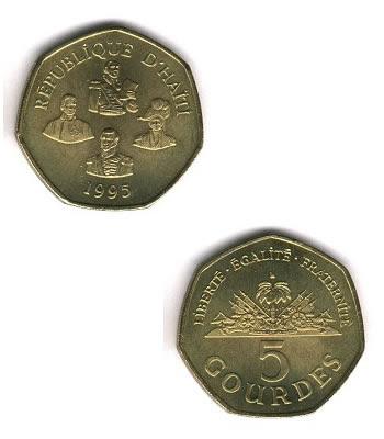 Haiti 5 Gourdes Coin (1995)
