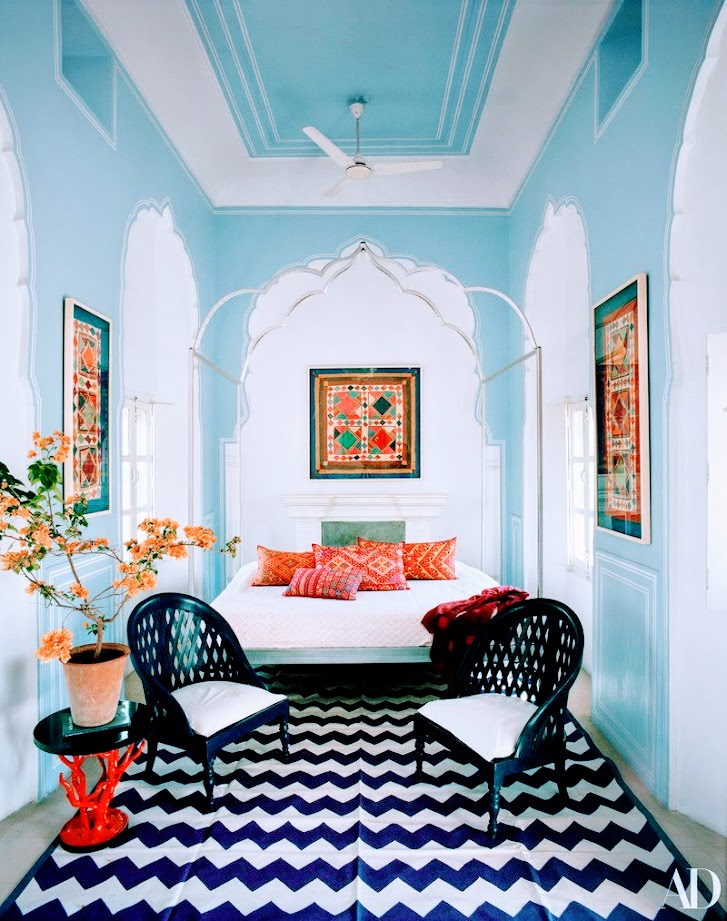 daily inspiration colorful home in jaipur embroidered mules princess adrienne de su de. Black Bedroom Furniture Sets. Home Design Ideas