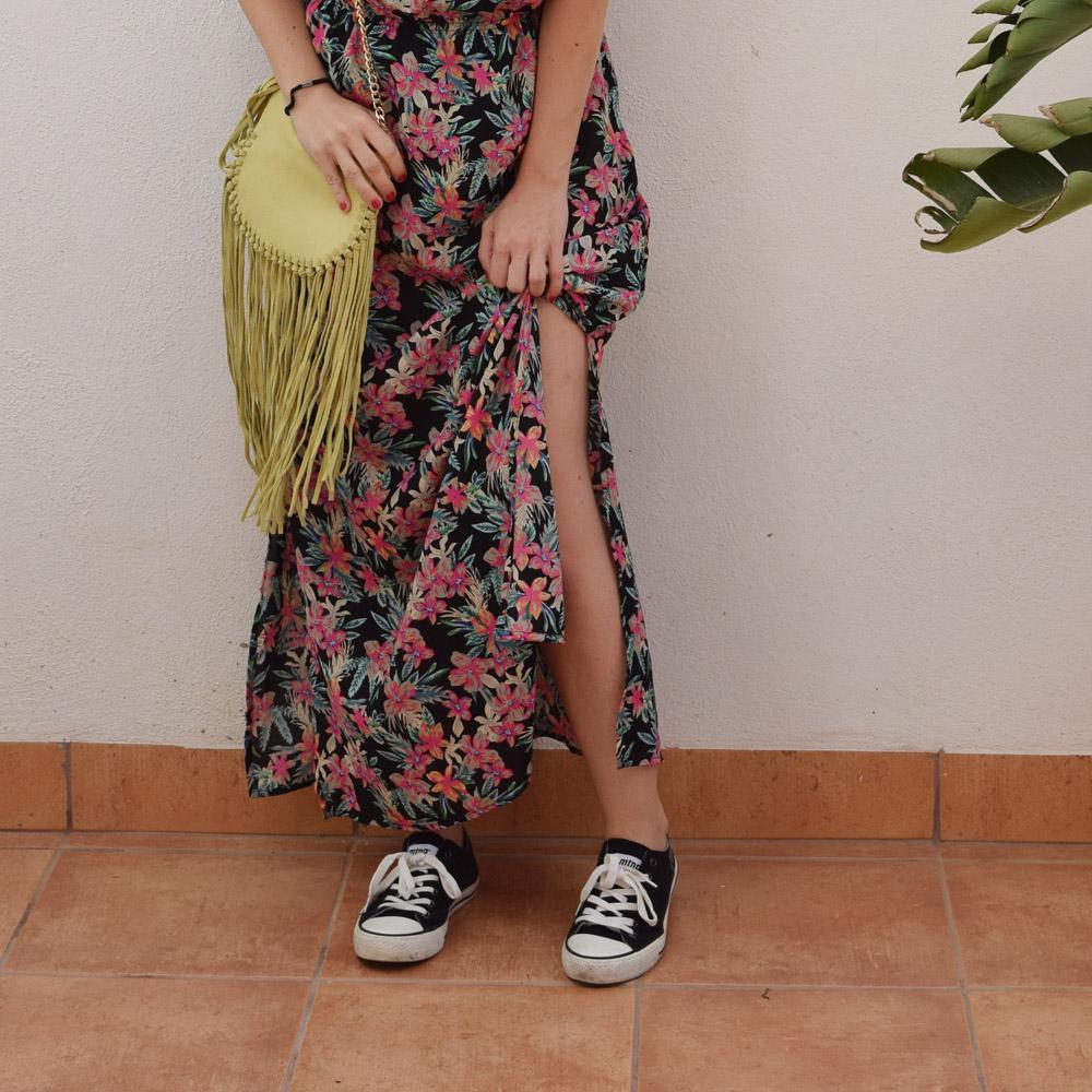 Calzado para vestido largo de flores