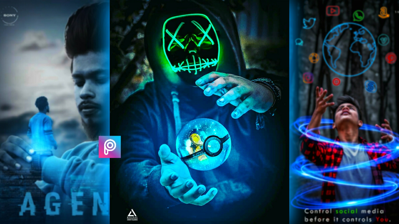 Instagram new pokeball neon effect editing Pngs - Android