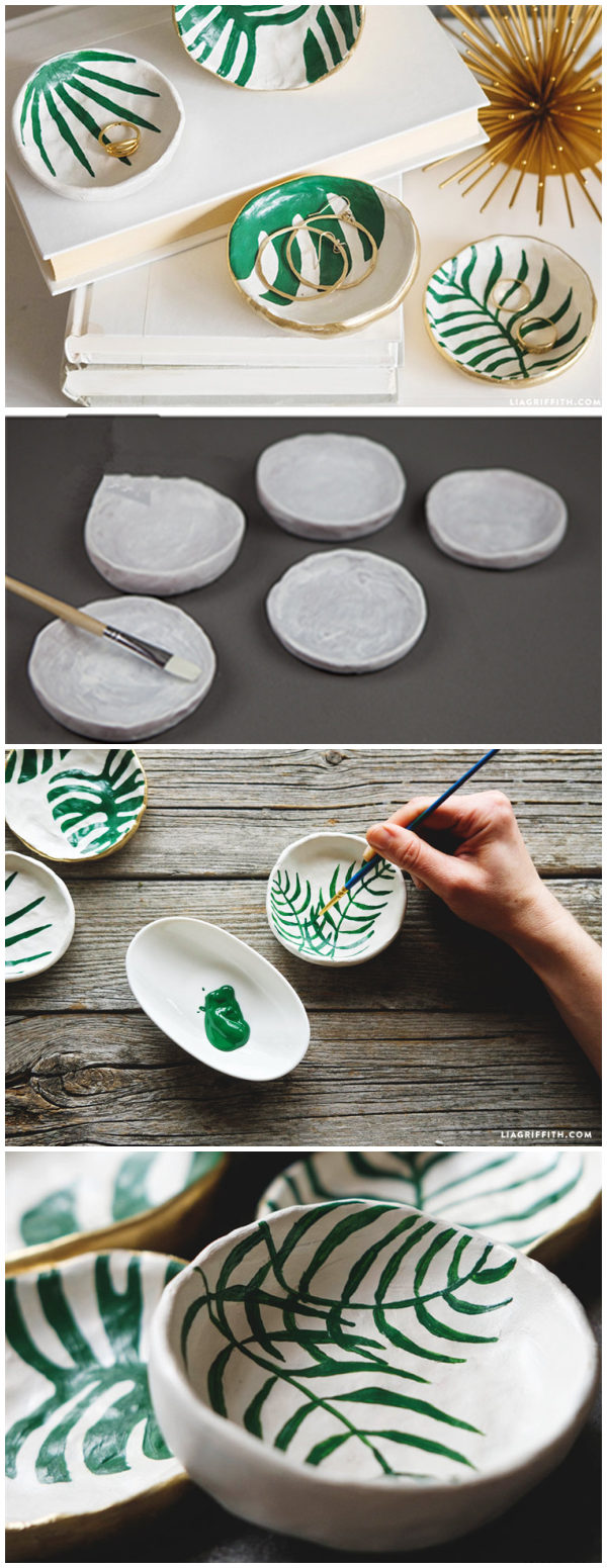 Tropical Leaf Trinket Dishes