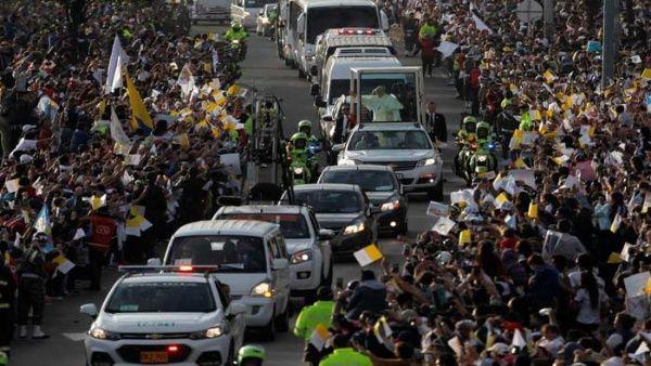 Papa Francisco eleva este jueves su oración de paz en la capital colombiana