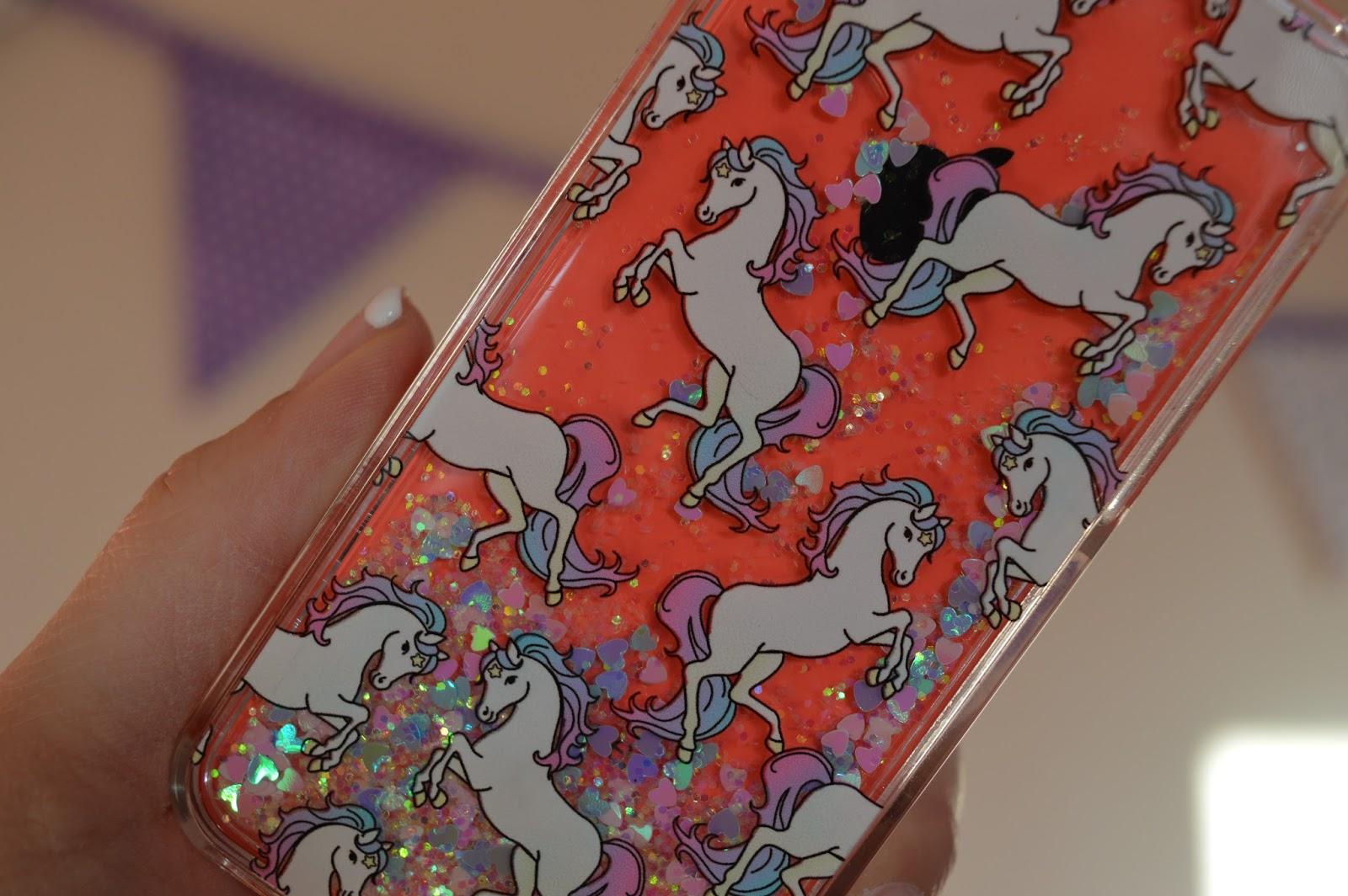 TOPSHOP Glitter Unicorn Iphone 5c Case
