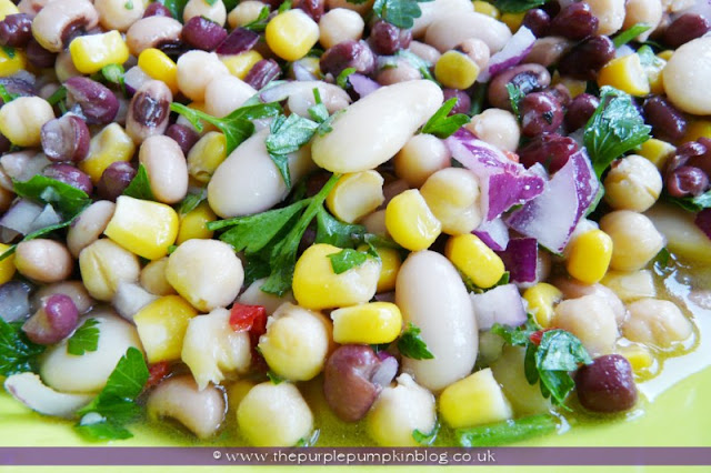 Five Bean Salad with Chilli Citrus Dressing at The Purple Pumpkin Blog