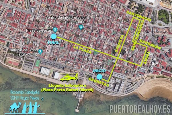 Horario e Itinerario de la Cabalgata de los Reyes Magos de Puerto Real (Cádiz) 2019