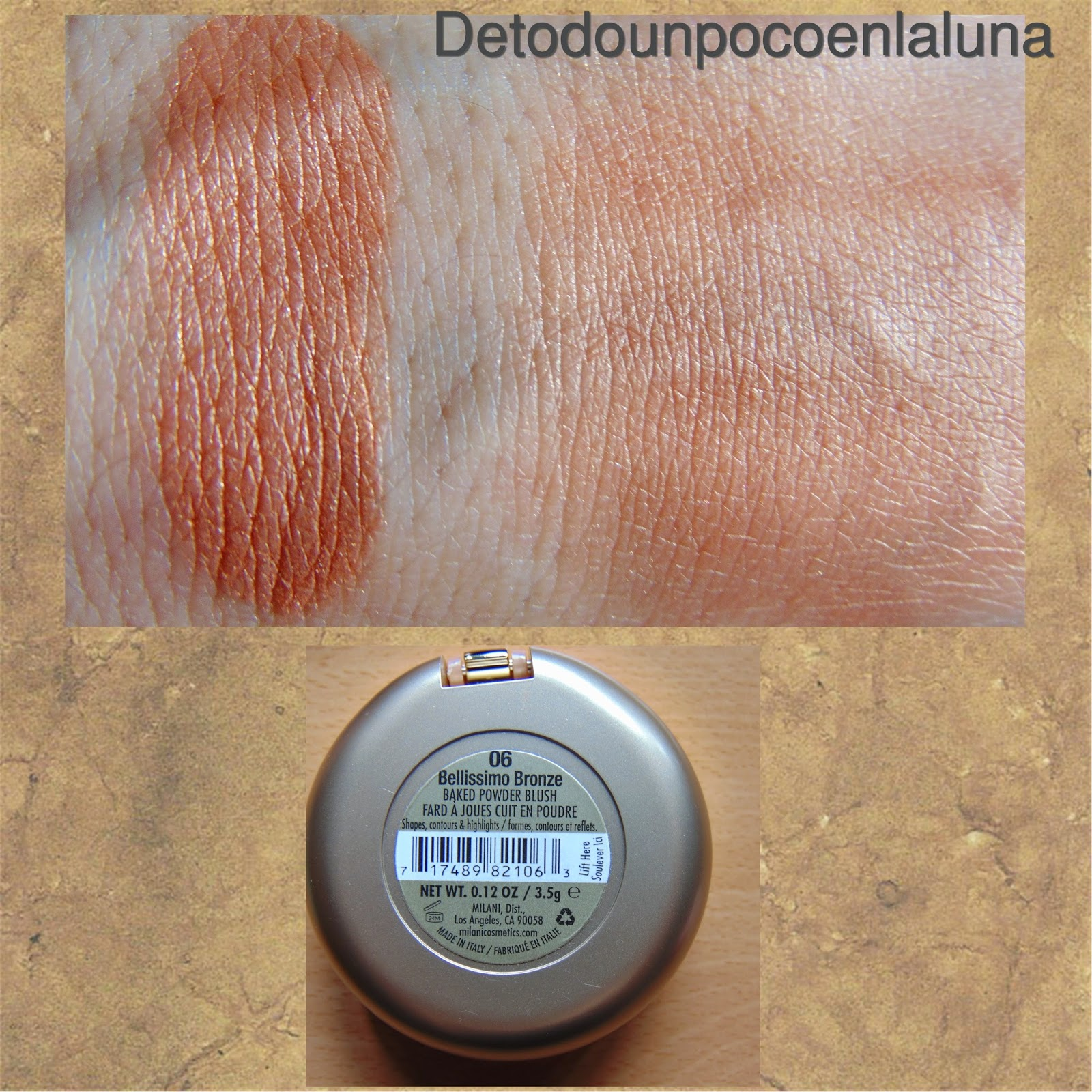 Colorete bellisimo bronze milani